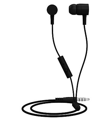 Maxell Spectrum Earphones with microphone - black
