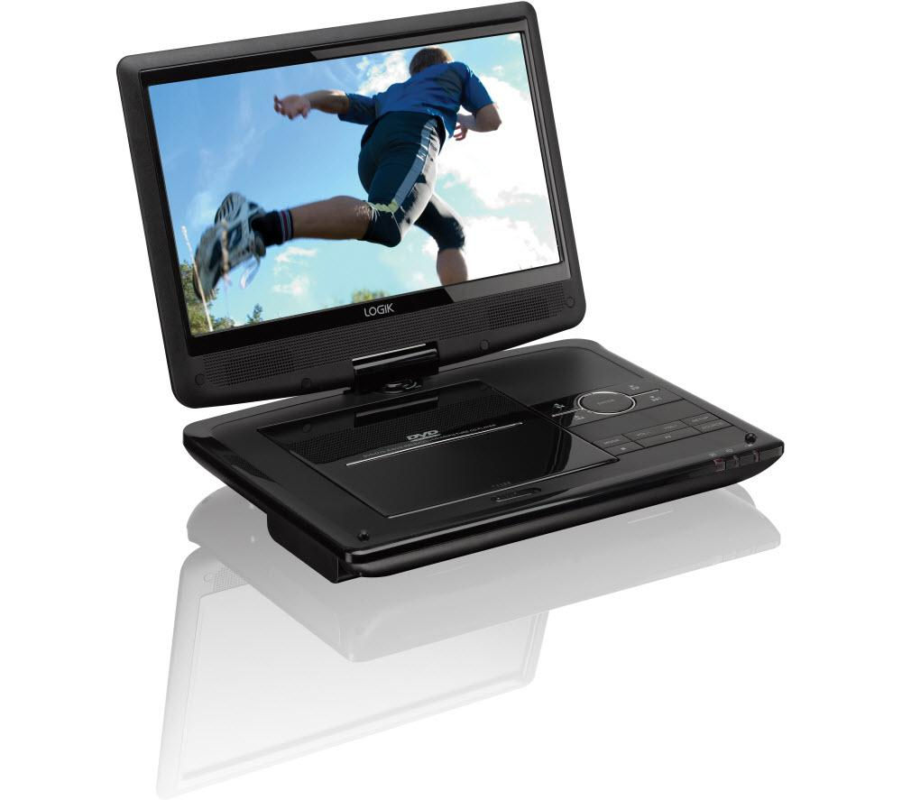 Logik L10SPDV13 Portable DVD Player - Black, Black
