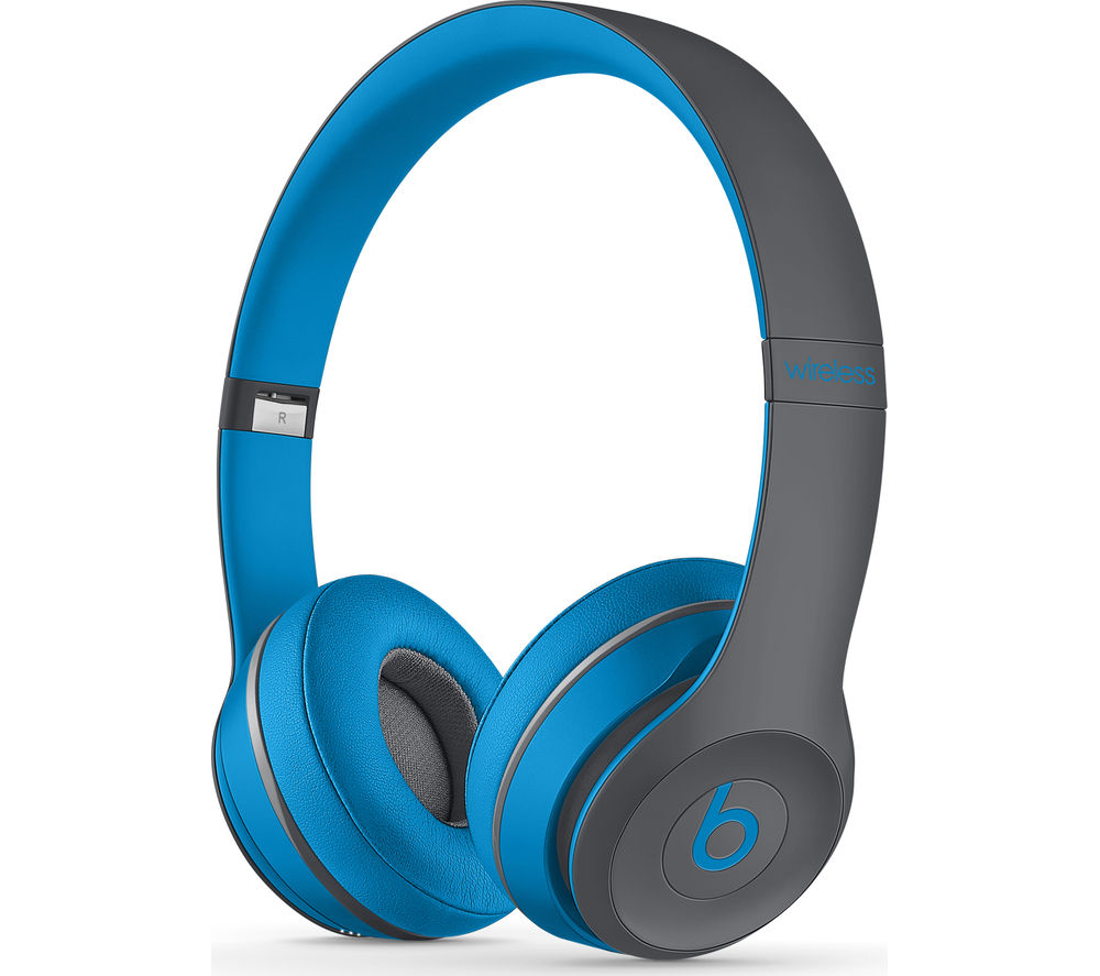 Beats By Dr Dre Solo 2 Wireless Bluetooth Headphones - Active Collection, Flash Blue, Blue