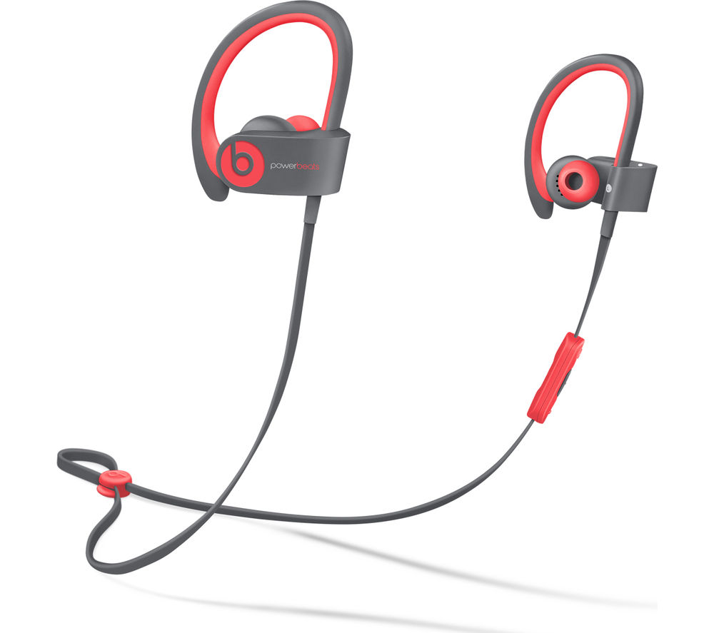 Beats By Dr Dre Powerbeats² Wireless Bluetooth Headphones - Active Collection, Red, Pink