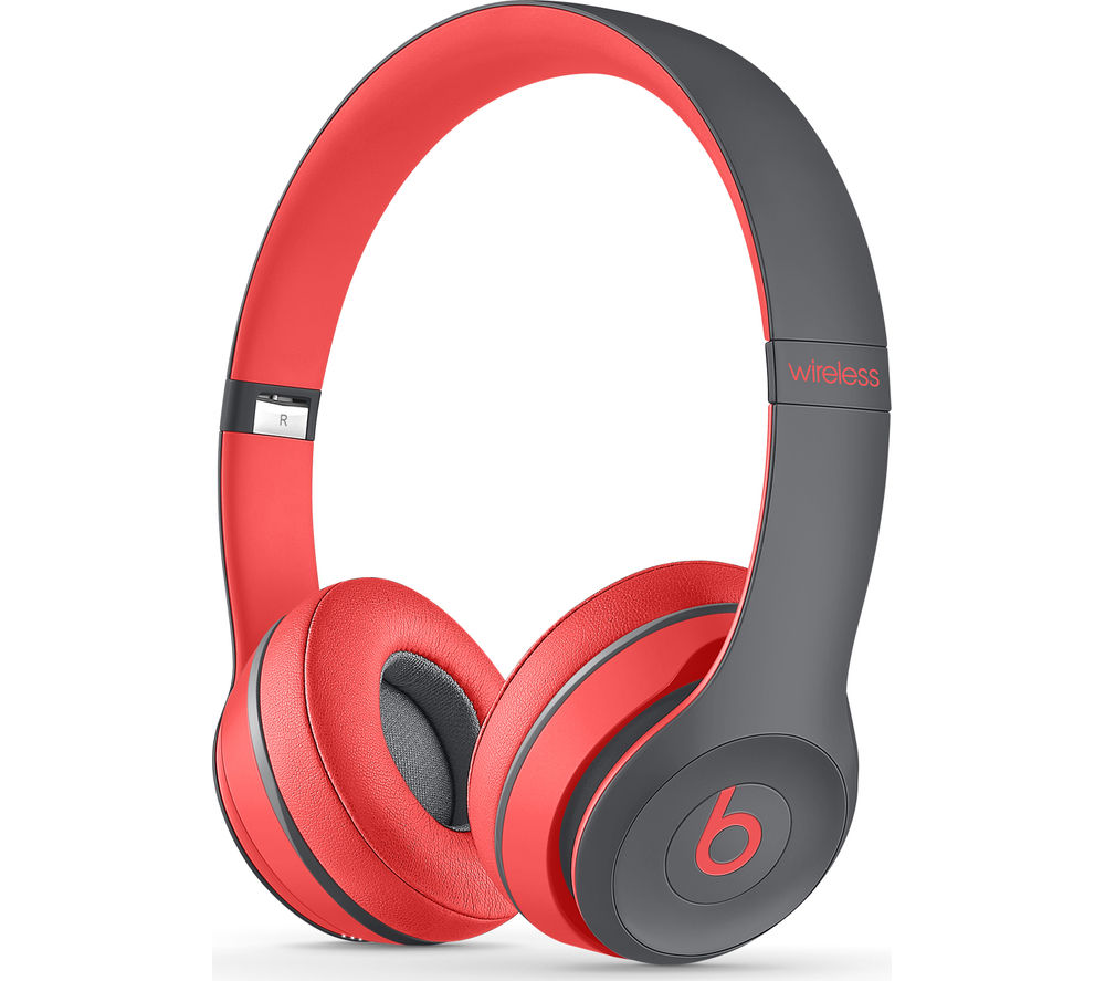 Beats By Dr Dre Solo 2 Wireless Bluetooth Headphones - Active Collection, Red & Black, Red