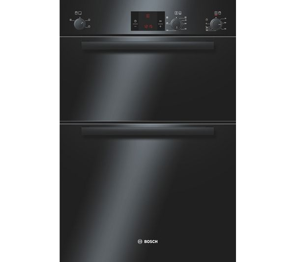 Bosch Avantixx HBM13B261B Electric Double Oven - Black, Black