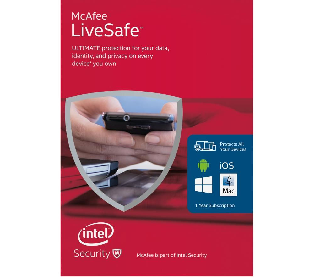 Mcafee LiveSafe Unlimited 2016 - Downloadable