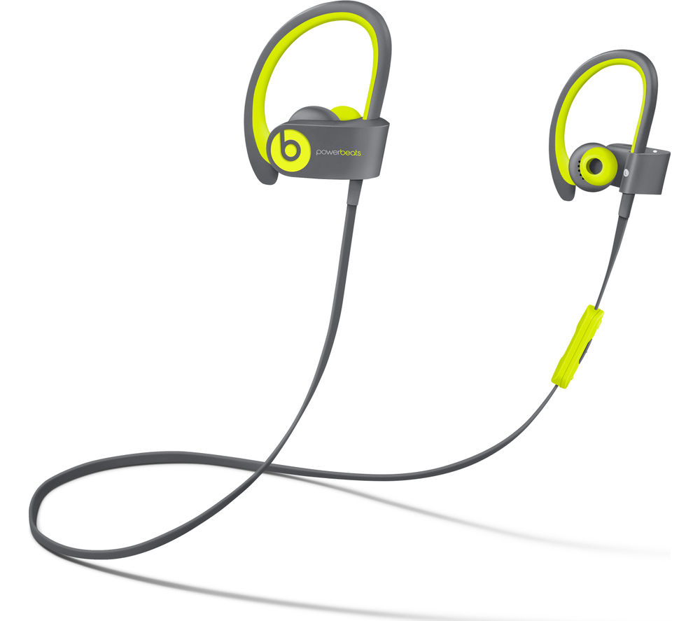Beats By Dr Dre Powerbeats² Wireless Bluetooth Headphones - Active Collection, Yellow, Pink