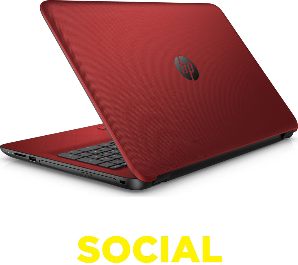 "HP 15-af154sa 15.6"" Laptop - Red, Red"