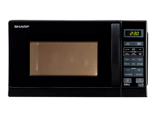 Sharp R662KM - microwave oven with grill - freestanding - black
