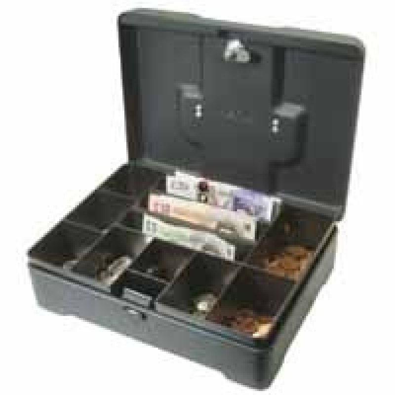 Helix High Capacity 12 Inch Cash Box - Anthracite