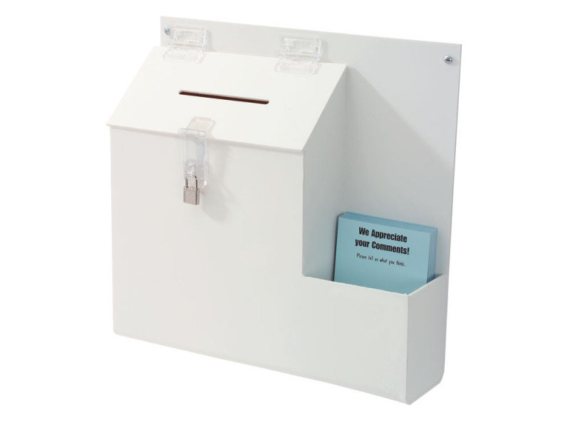 DEFLECT SUGGESTION BOX WHITE