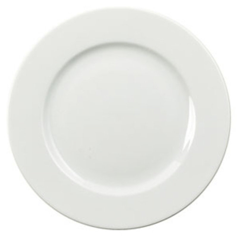 CPD 25cm White Porcelain Plate - 6 Pack