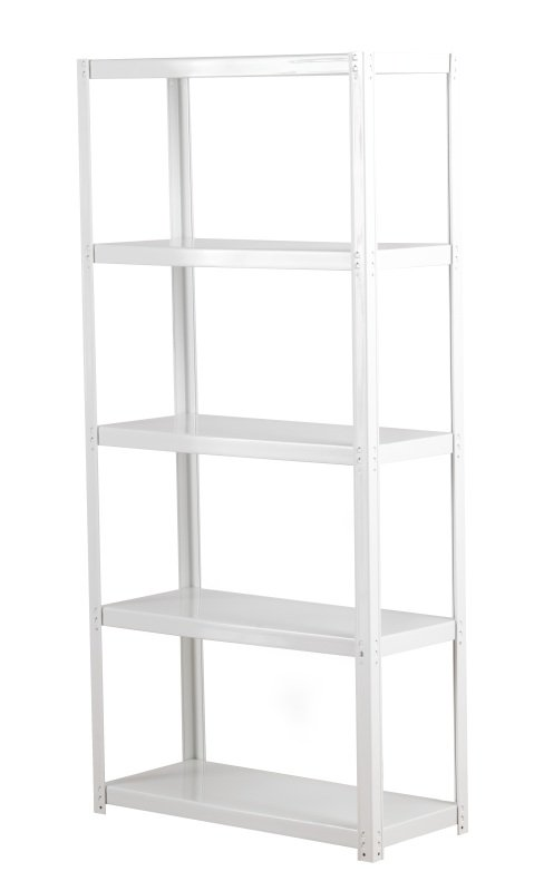 FF ZAMBA 5 SHELF BOLTLESS SHELVING WHITE