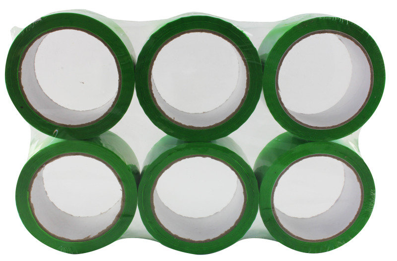 Ambassador 62050665 Polypropylene Tape 50x66mm Green - 6 Pack