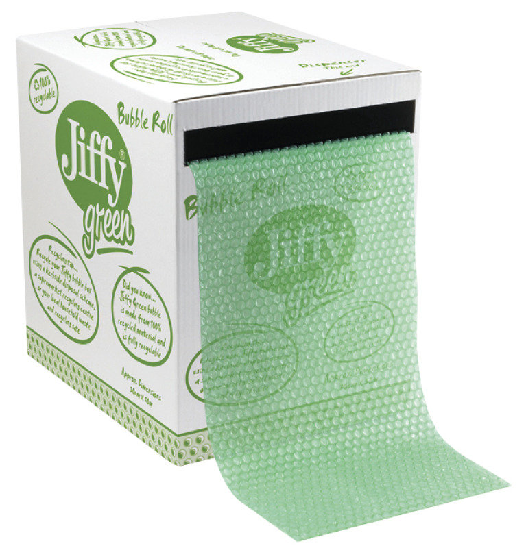 Jiffy 43010 Green Bubble Wrap Dispenser Box 300mm x 50m
