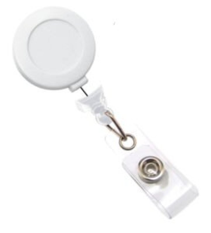 Badge Reel Red Sticker White - Pack X 100