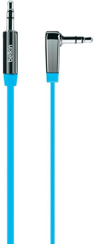 3.5mm Flat Right Angled Audio Cable; Blue