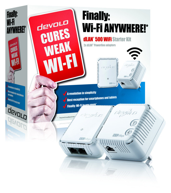 Devolo dLAN 500 - Wifi Twin Powerline Starter Kit