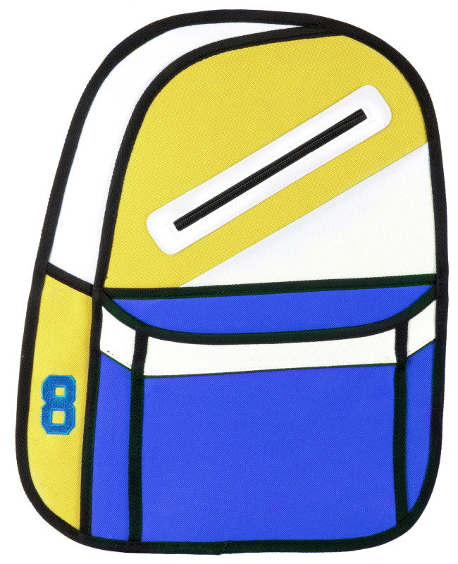 2D cartoon backpack Yellow and Blue