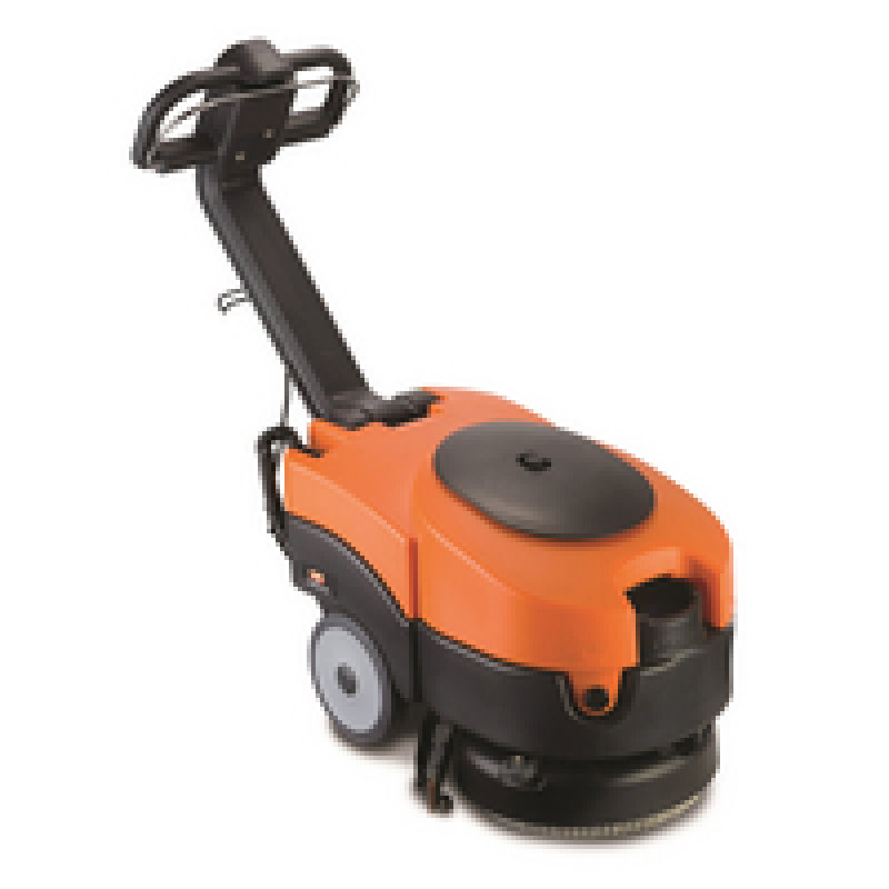 Vax Commercial Black and Orange Battery Powered Scrubber Dryer