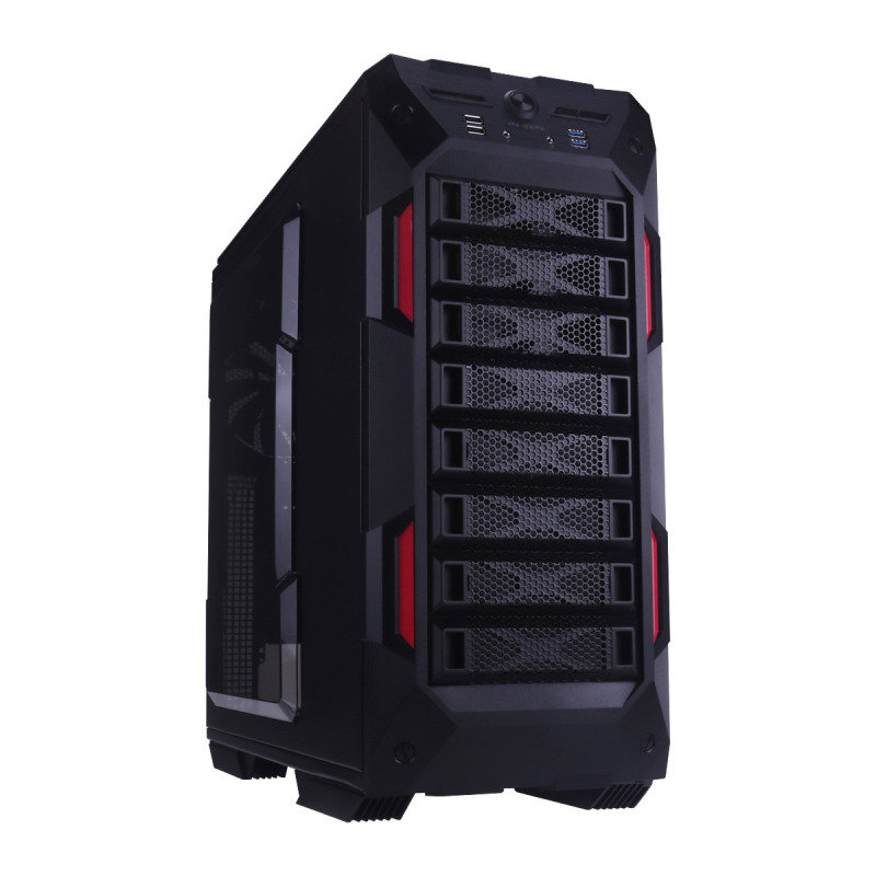 In Win GR One Gaming Case Full Tower E-ATX USB3 Black & Red