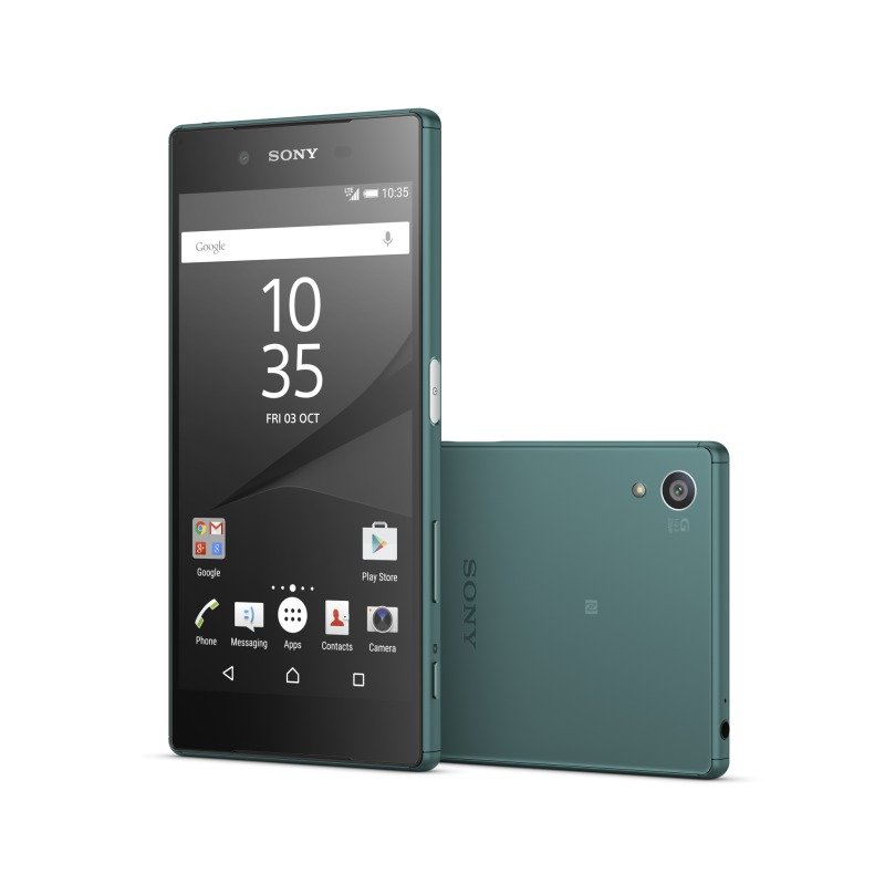 1298-4480 Sony Xperia Z5 5.2inch FHD 1080p Snapdragon 810 (MSM8994) Display 23MP Rear and 5MP Front Camera 3GB RAM 32GB Flash Android 5.1 Lollipop Phone Green