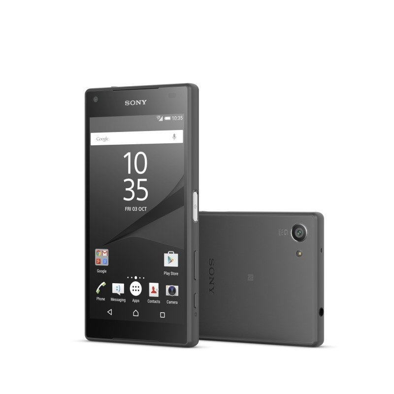 "1298-3808 Sony Xperia Z5 Compact os Android 5.1Snapdragon 810 (MSM8994)64 bit 4.6"" HD 720p 2 GB RAM 32GB single SIM 23mp REAR 5MP front camera bluetooth wifi 2700 MaH batteryFlash Black phone"