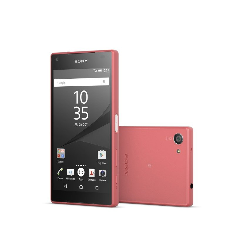 "1298-3809 Sony Xperia Z5 Compact Sony Xperia Z5 Compact os Android 5.1Snapdragon 810 (MSM8994)64 bit 4.6"" HD 720p 2 GB RAM 32GB Flash single SIM 23mp REAR 5MP front camera bluetooth wifi 2700 MaH battery Coral phone"