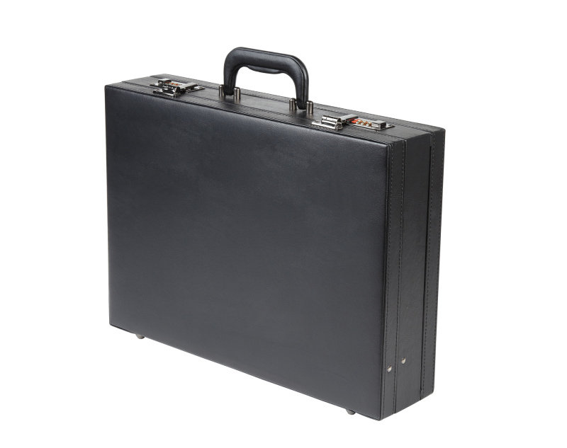 Leather Look Expandable Attache