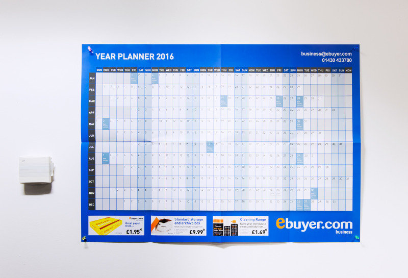 Ebuyer.com 2016 Wall Planner