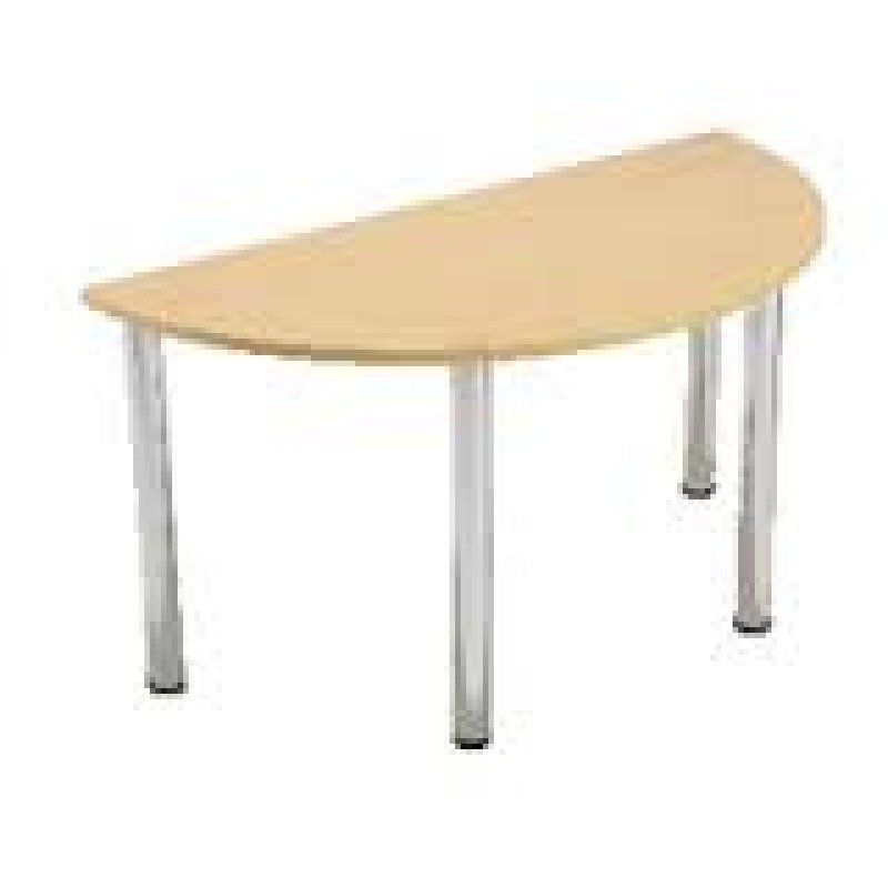 Jemini Semi-Circular Meeting Room Table Standard Leg Beech