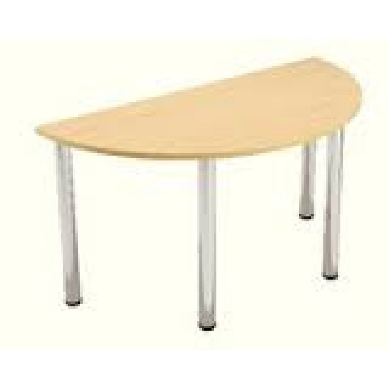 Jemini Semi-Circular Meeting Room Table Folding Leg Beech