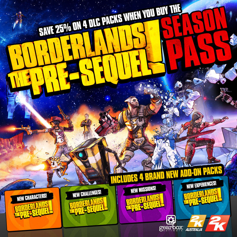 Borderlands: The Pre-sequel Season Pass - Age Rating:18 (pc Game)