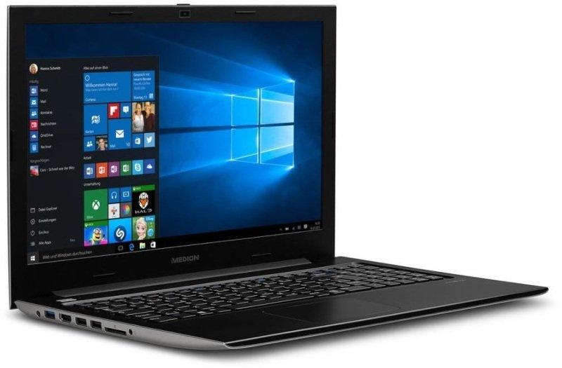 "Medion Akoya S6219 Laptop, Intel Pentium QC N3700, 4GB RAM, 1TB HDD, 15.6"" LED, No-DVD, Intel HD, WIFI, Bluetooth, Windows 10"