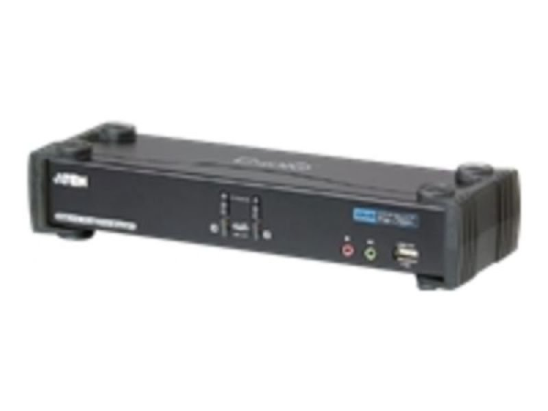 Aten 2 Port Dual-link Dvi / Usb 2.0 Kvmp Switch With Audio Support (2 Kvm Cables Included)
