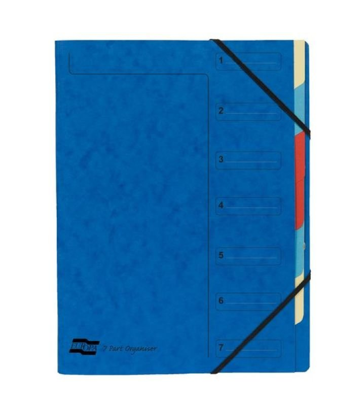 Exacompta 7 Part Organiser Blue