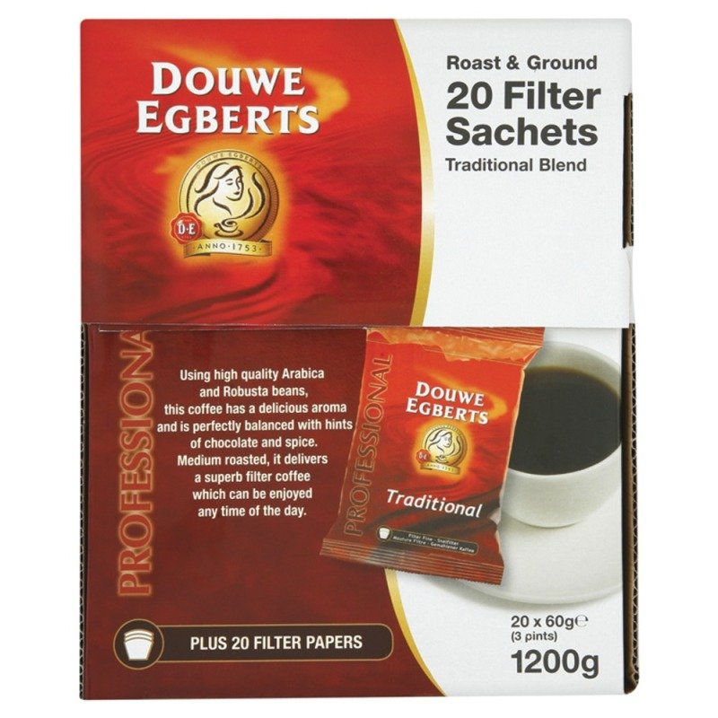 Douwe Egberts Roast & Ground Filter Coffee - 20 Pack