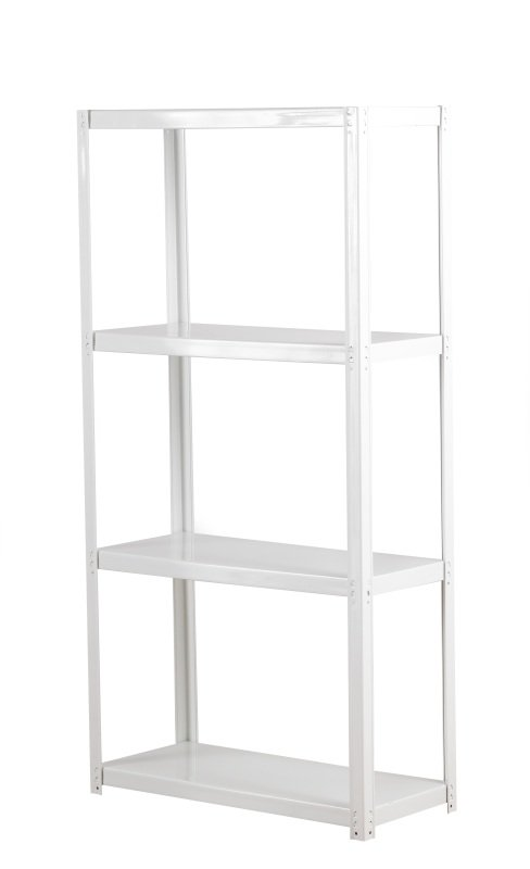 FF ZAMBA 4 SHELF BOLTLESS SHELVING WHITE