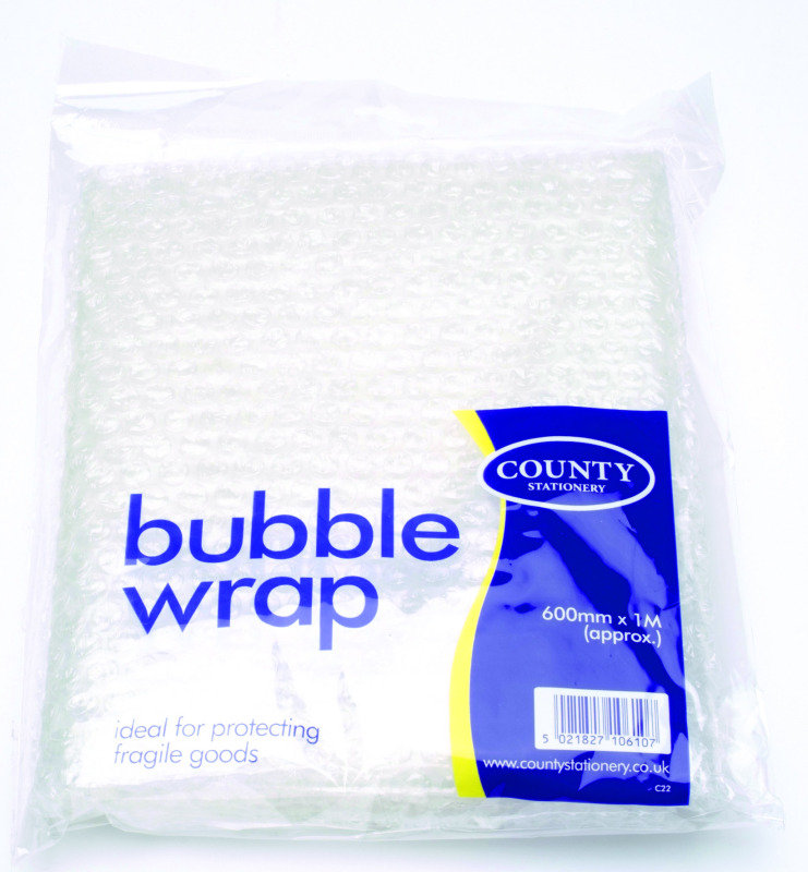COUNTY BUBBLE WRAP SHEETS 600X1M C22
