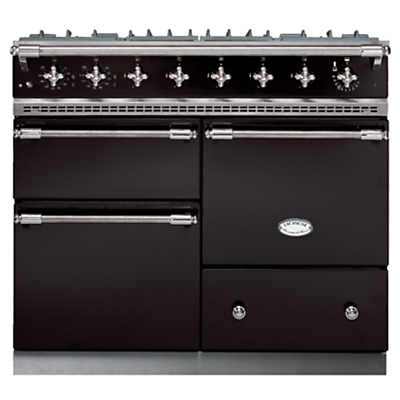 Lacanche Macon LG1053GE Dual Fuel Range Cooker, Black / Chrome Trim