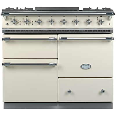 Lacanche Macon LG1053GE Dual Fuel Range Cooker, Ivory / Chrome Trim