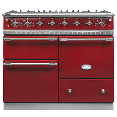 Lacanche Macon LG1053GE Dual Fuel Range Cooker, Burgundy / Chrome Trim