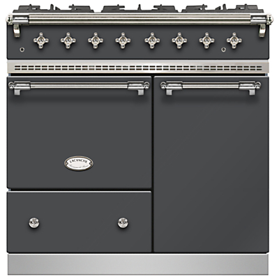 Lacanche Beaune LG962GCTDANTCHA Dual Fuel Range Cooker, Anthracite / Chrome Trim