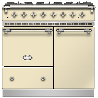 Lacanche Beaune LG962GCTDCRCHA Dual Fuel Range Cooker, English Cream / Chrome Trim