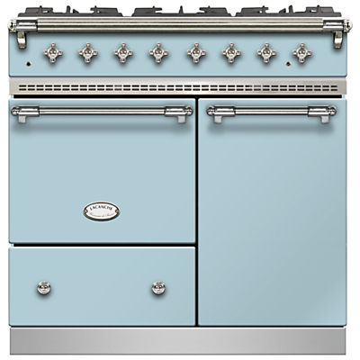 Lacanche Beaune LG962GCTDBLDCHA Dual Fuel Range Cooker, Delft Blue / Chrome Trim