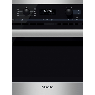 Miele M6260 TC Microwave Oven, Clean Steel