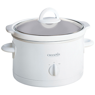 Crock Pot Manual 2-Person 2.4 Litre Slow Cooker, White