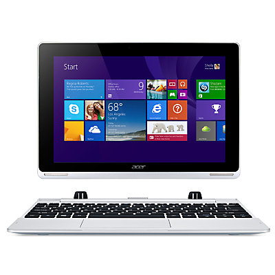 "Acer Aspire Switch 10 Convertible Tablet, Intel Atom, 2GB RAM, 64GB eMMC, Windows 8.1 & Microsoft Office 365, 10.1"" Full HD Touch Screen, Silver"
