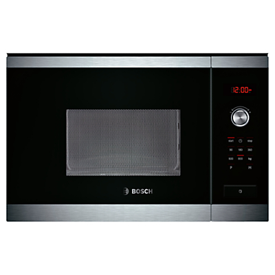 Bosch HMT75M654B Built-In Compact Microwave, Brushed Steel