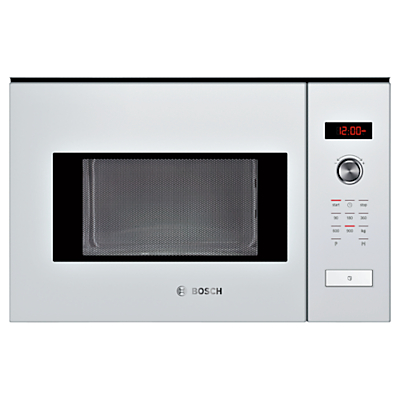 Bosch HMT84M624B Built-In Compact Microwave, White