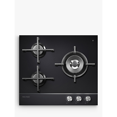 Fisher & Paykel CG603DNGGB1 Gas Hob, Black Glass