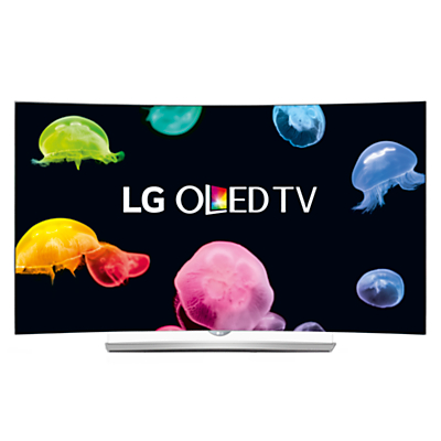 "LG 55EG960V Curved 4K Ultra HD OLED 3D Smart TV, 55"" with Freeview HD, Built-In Wi-Fi, Harman/kardon Audio & 2x 3D Glasses"