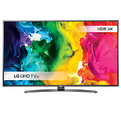 "LG 49UH661V LED HDR 4K Ultra HD Smart TV, 49"" With Freeview HD/freesat HD & Metallic Design"